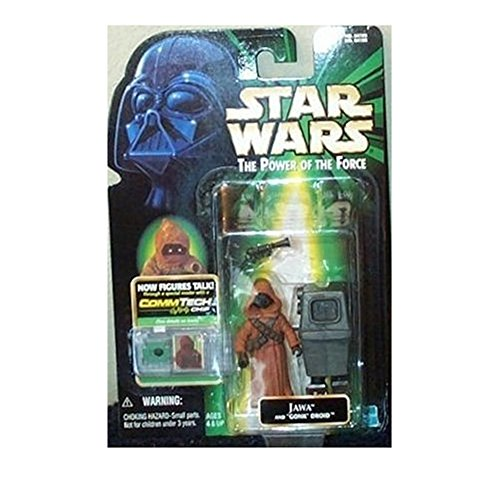 Star Wars, The Power of the Force CommTech, Jawa and Gonk Droid Action Figures, 3.75 Inches ()