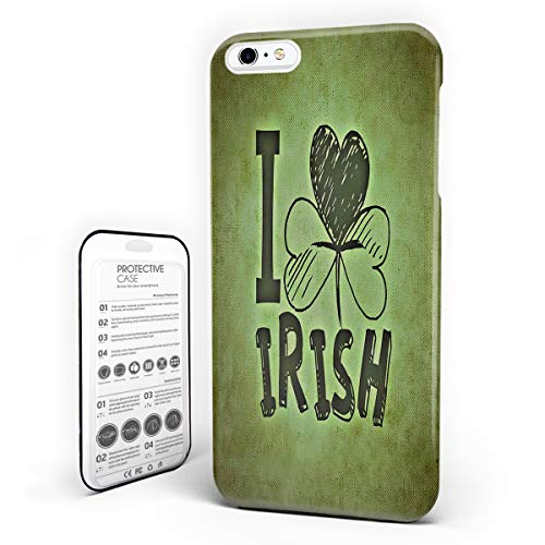 Cell Phone Case for iPhone 6/6S Plus St. Patrick's Day Theme I Love Irish Skid-Proof Anti-Scratch Hard Slim PC Phone Cover (5.5 inch)]()