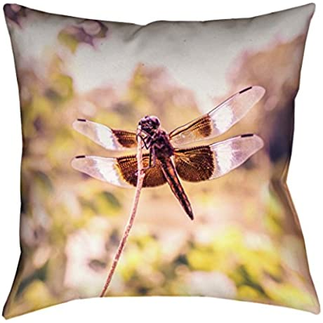 ArtVerse Ryan Mcguire Dragonfly X Floor Pillows Double Sided Print With Concealed Zipper Insert 40 X 40