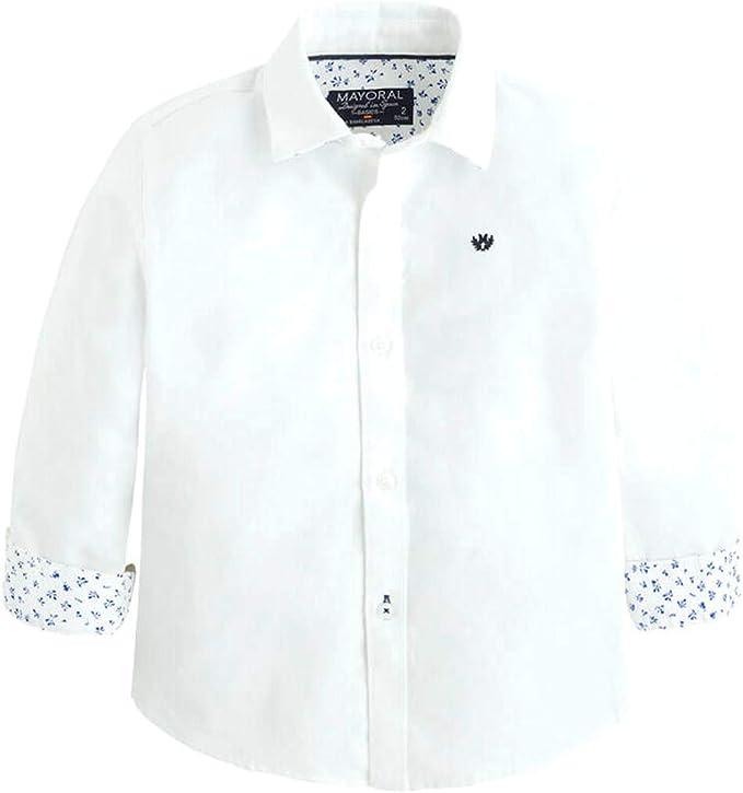 Mayoral Camisa niño blanca algodón 142: Amazon.es: Ropa y accesorios