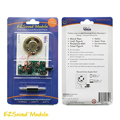 EZSound Module - Light Activated - Easy to Record - 120 Seconds Recording - High Sound Quality -