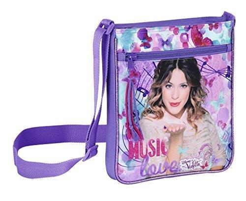 5 x Disney Violetta - Schultertasche; 25 cm x 21 cm x 5 cm; lila