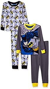 DC Comics Boys' Batman Superhero 4-Pc Pajama 2 Sets, Long Sleeve and Pant at Gotham City Store