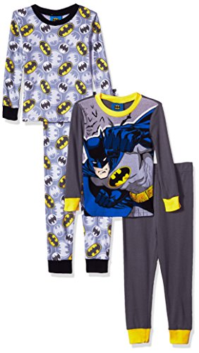 DC Comics Boys' Batman Superhero 4-Pc Pajama 2 Sets, Long Sleeve and Pant at Gotham City Store