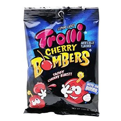 Product Of Trolli, Peg Cherry Bombers, Count 12 (4.25 oz) - Sugar Candy / Grab Varieties & ()