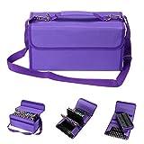 BTSKY Handy 80 Slot Carrying Lipstick Organizer Marker Case Holder for Copic Prismacolor Touch Spectrum Noir Paint S, Purple