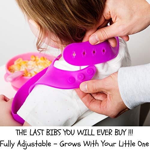 Amazon.com: Baberos de silicona para bebés baberos ...