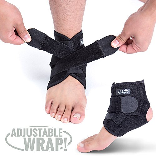 Ankle Support Brace, Breathable Neoprene Sleeve, Adjustable Wrap! ()