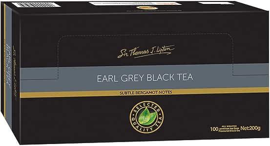 Sir Thomas Lipton Earl Grey Black Tea, Foil Wrapped Tea Bags, 100 Pieces