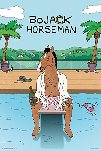 Bojack Horseman- Hollywood Poolside Poster 24 x 36in