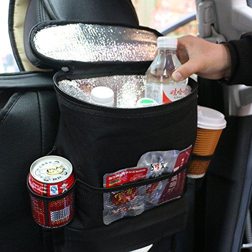 Amyove Car Back Seat Organizer Multi-Function Seat Back Oxford Cloth Insulation Storage Bag Hanging Bag Seat Pocket
