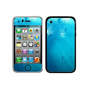 Graphics and More Protective Skin Sticker Case for iPhone 3G 3GS - Non-Retail Packaging - Ocean Fish Underwater