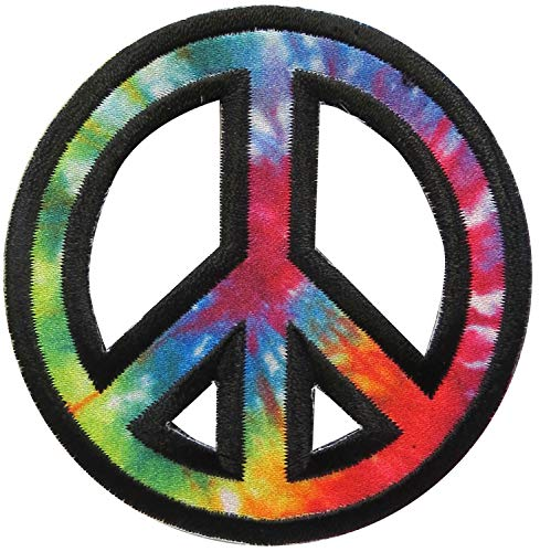 Simplicity 1938990001 Rainbow Peace Sign Applique Clothing Iron On Patch, 2.75'' - Peace Sign Embroidery