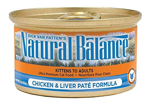 Natural Balance Chicken & Liver Pate Formula Ultra Premium Canned Cat Food