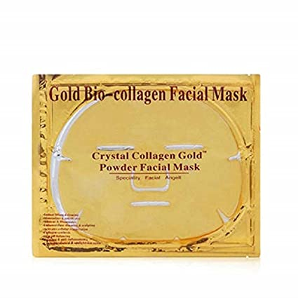 Luxurious 24k Gold Bio-collagen Facial Mask (5pcs) By Pro Natural Inc. by EBP Medical Derma E Eye Creme Hyaluronic And Pycnogenol - 0.5 Oz