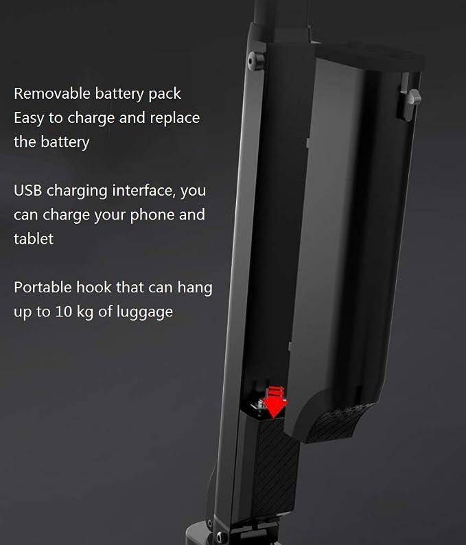 Amazon.com: Patinete eléctrico portátil, plegable con ...