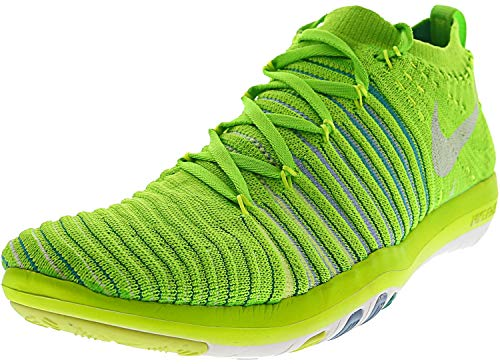 Nike Women s Free Transform Flyknit Running Shoe 7 B M US, Electric Green White-Hyper Jade-Bluecap