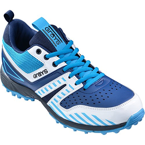 GRAYS 5000 G MEN'S-CHAUSSURES DE HOCKEY SUR GAZON-BLEU MARINE/BLEU CIEL-UK LOT DE 12