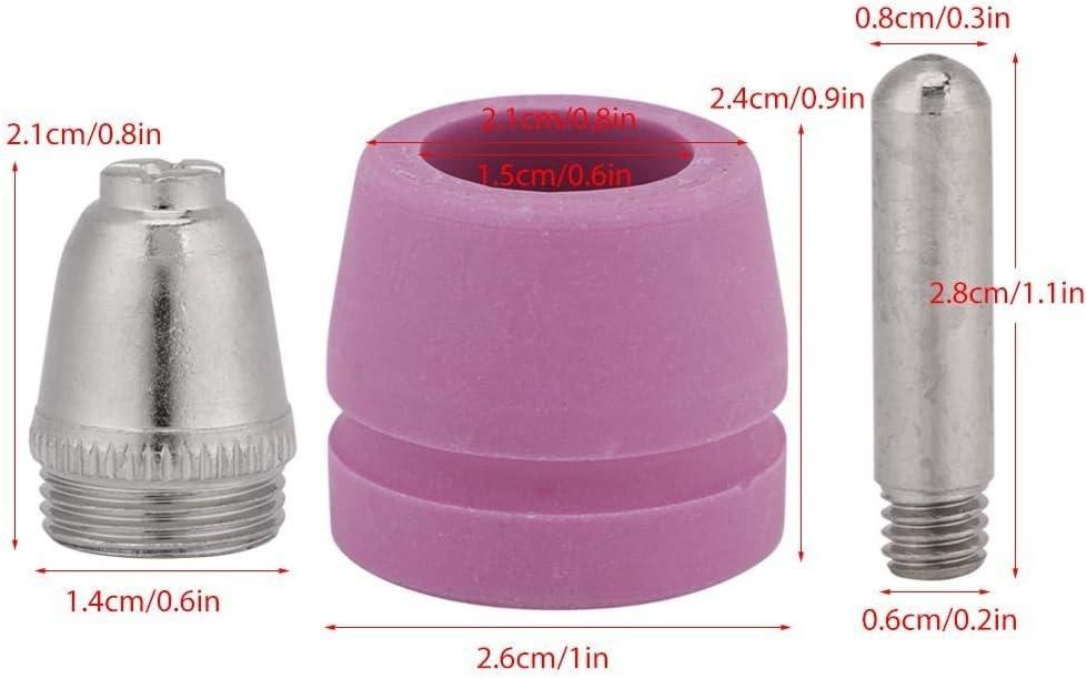 D/üsen Cup 90 St/ück//Set Plasmaschneider D/üsenschneidbrenner Verbrauchselektroden D/üsen Cup Kit