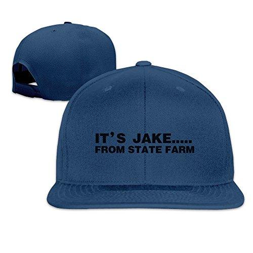 Its Jake From State Farm Adjustable Hats Flat Brim Baseball Hat ()