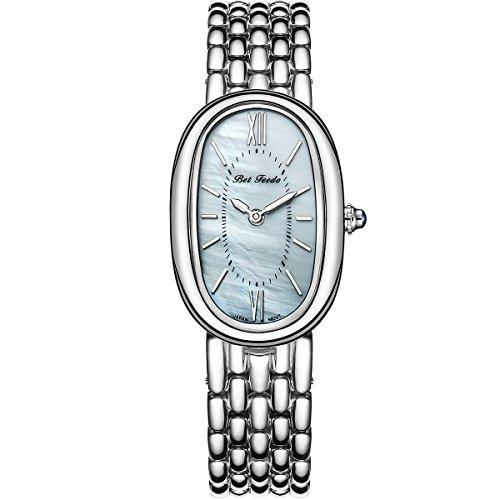- Betfeedo Women's Dress Watch Ultra-Thin Oval Dial Quartz Analog Watch with Stainless Steel Strap