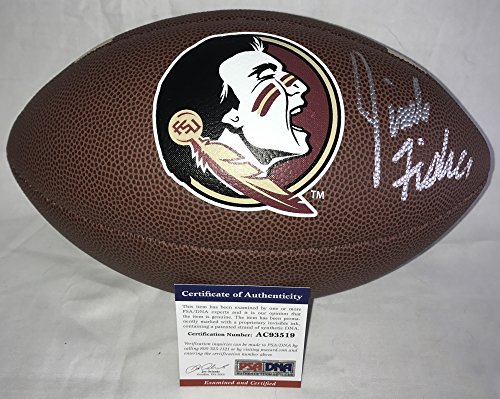 Coach Jimbo Fisher Signed / Autographed Florida State Seminoles Logo Football - PSA DNA Certified