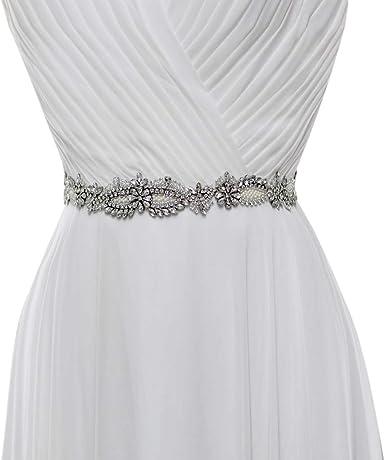 Azaleas Womens Crystal Diamond Bridal Belt Sashes Wedding Belts Sash for Wedding