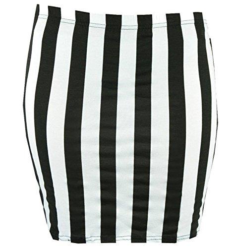 con Jersey Stretch Printed Skirts ( Stripe, XL ) (New Ladies Mini)