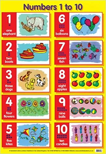 Worksheets 1 To 10 Numbers numbers 1 to 10 laminated posters amazon co uk schofield sims ltd 9780721755366 books