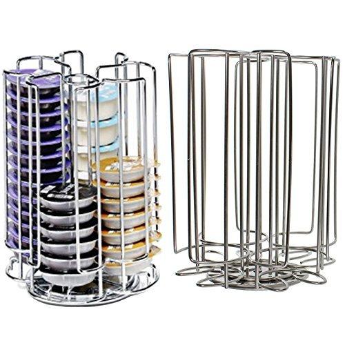 Spares2go 52 Rotating T-Disc Holder Rack for Bosch Tassimo Coffee Machine Capsule Pods (52 Pod Tower Dispenser) Mifri