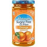 Polaner Sugar Free with Fiber, Orange Marmalade, 13.5 Ounce