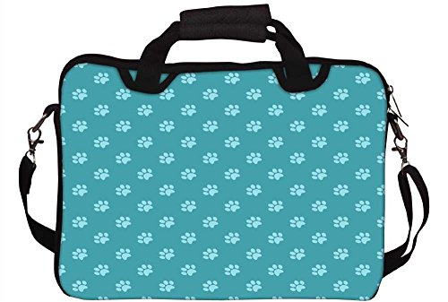 Snoogg Abstrakt Hund Foot Prints 30,5cm 30,7cm 31,8cm Zoll Laptop Notebook Computer Schultertasche Messenger-Tasche Griff Tasche mit weichem Tragegriff abnehmbarer Schultergurt für Laptop Tablet PC