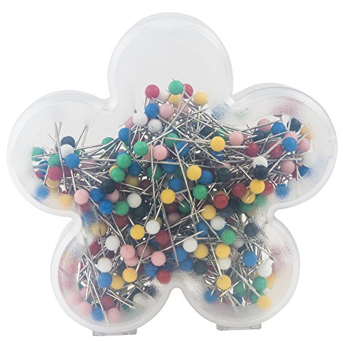 SINGER 40161 Ball Head Straight Pins in Flower Case, Size 17, 360-Count]()