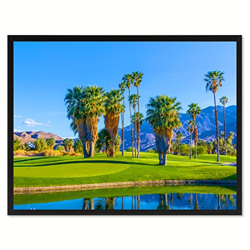 Palm Spring Golf Course Photo Canvas Print  Frame Home