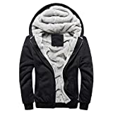Men Clothes Clearance Charberry Mens Camouflage Hoodie Winter Warm Fleece Zipper Sweater Jacket Outwear Coat
