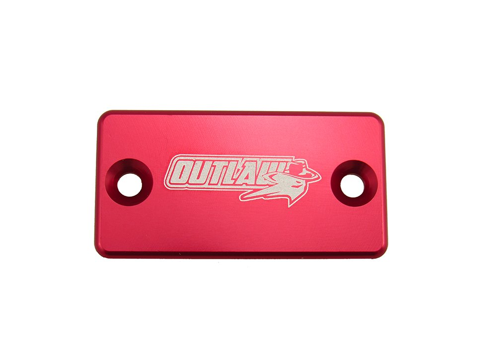 Outlaw Racing Billet Front Master Cylinder Reservoir Brake Cap CR CRF KX KXF RM RMZ YZ YZF WR (Black) Outlaw Racing Products