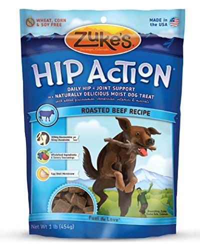 Zuke s Hip Action Dog Treats, Beef Recipe, 1-Pound