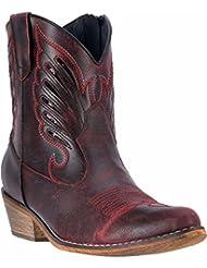 Dingo Womens Flat Bush Short Western Boot Round Toe - Di726