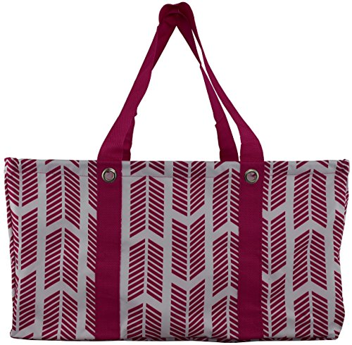 Carryall Wireframe Large All Purpose Utility Tote (Pink Arrows)