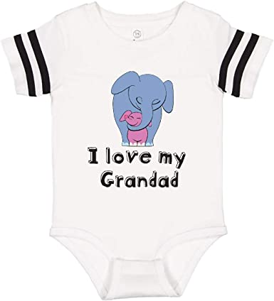 inktastic I Love My Daddy Elephant Blue Purple Long Sleeve Creeper