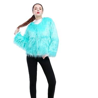 immagini dettagliate risparmi fantastici nuovo stile YuanDian Donna Autunno Inverno Corto Cappotto in Pelliccia ...