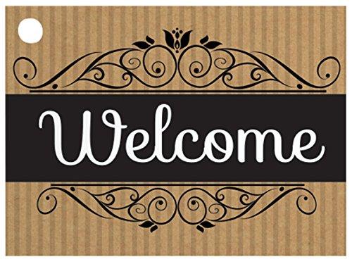 [해외]웰컴 크 라프 트 스트라이프 기프트 카드 (6 팩) 3 ~ 3 × 4 \\ / Welcome Kraft Stripes Gift Cards (6 Pack ) 3-34x2-34