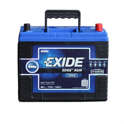long lasting, high performance car battery Exide Edge FP-AGM24