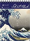Hokusai Wave Sketchbook - Top Spiral - Large - Unlined, , 1571339094