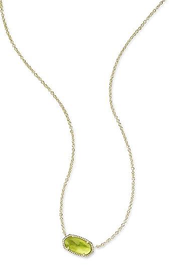 7899506c6 Kendra Scott. Elisa Birthstone Pendant Necklace - August/Peridot  IIIusion/Gold