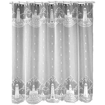 Heritage Lace Lighthouse 72 Inch By Shower Curtain White