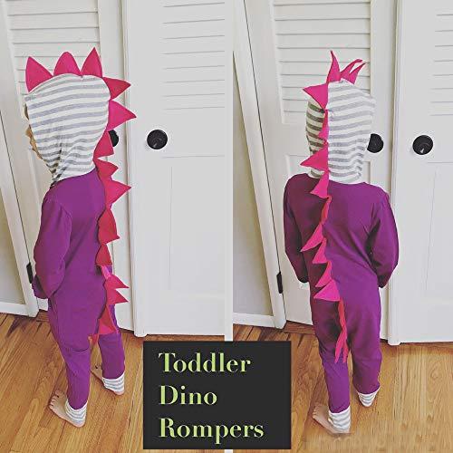 Fheaven (TM) Jumpsuit Romper Baby, Little Girl Boy Autumn Winter Striped 3D Dinosaur Hooded Romper Jumpsuit Clothes