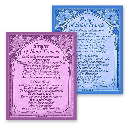 The Prayer of Saint Francis Inspirational Uplifting Poetry Home Decor Housewarming Gift 8x10 Art Nouveau Style Print