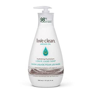 Live Clean Argan Oil Replenishing Liquid Hand Soap, 500 mL (Packaging may very)