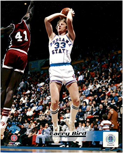 Unsigned Basketball (Larry Bird Indiana State University Unsigned Licensed Basketball Photo 2)